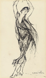 Sketch of a dancing girl