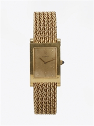 A GOLD BRACELET WATCH, BY BOUC