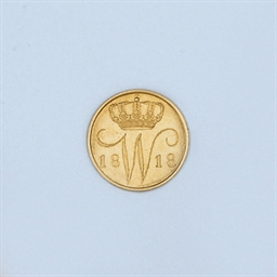 A DUTCH GOLD 5 CENT COIN