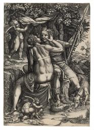 Venus and Adonis (Bartsch; Boo