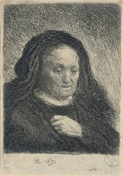 The Artist's Mother with her H