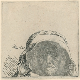 The Artist's Mother: Head only