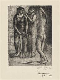 Deux Femmes regardant un Modèl