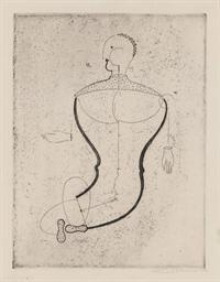 Abstrakte Figur, nach links (F