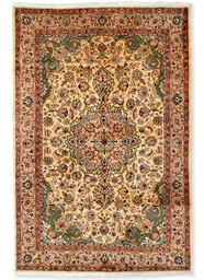 A fine part silk Tabriz carpet