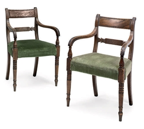 A PAIR OF GEORGE IV MAHOGANY A