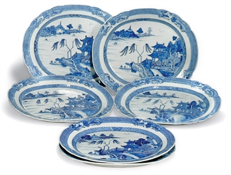 A SET OF SIX CHINESE EXPORT BL