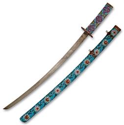 A CLOISONNÉ PRESENTATION SWORD