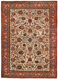 A fine part silk Qum carpet