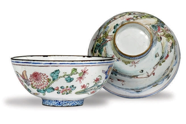 TWO CHINESE CANTON ENAMEL BOWL