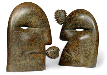 A PAIR OF BRONZE BUSTS OF THE
