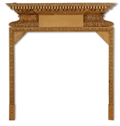 AN ENGLISH PINE CHIMNEYPIECE