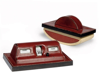 A HERMES LEATHER DESK CALENDAR