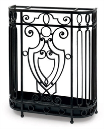 A BLACK PAINTED UMBRELLA STAND