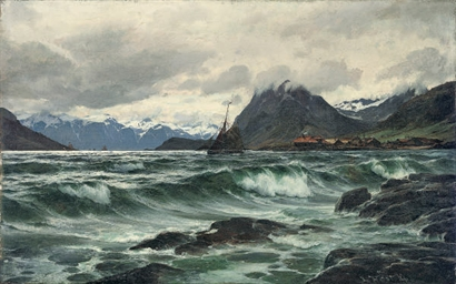Choppy waters in the fjord