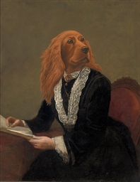 An anthropomorphic red setter,