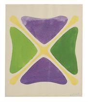 Untitled (Purple, Green, Oranges)