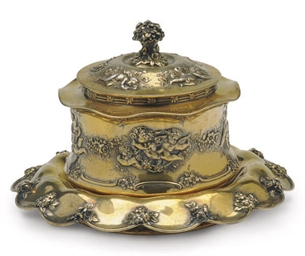 AN AMERICAN SILVER GILT COVERE