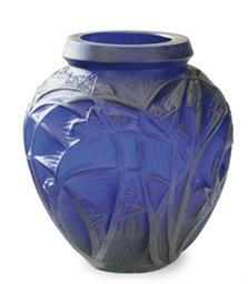 A CONTINENTAL COBALT BLUE GLAS