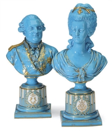 A PAIR OF SEVRES STYLE TURQUOI