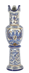 A GERMANY FAIENCE BEER CISTERN