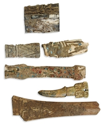 SIX CHINESE BONE FRAGMENTS,