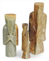 THREE CHINESE ARCHAISTIC JADE