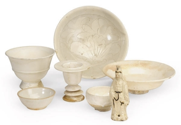A GROUP OF CHINESE WHITE-GLAZE