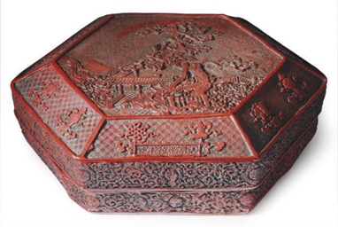 A CHINESE HEXAGONAL BOX AND CO