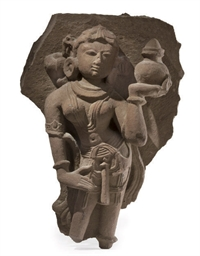 AN INDIAN RED SANDSTONE RELIEF