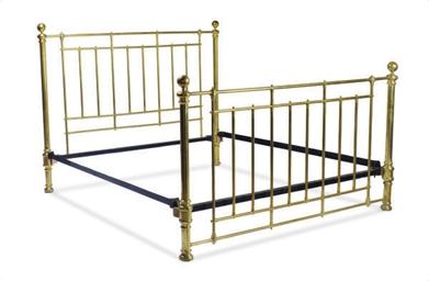 AN ENGLISH BRASS BED,