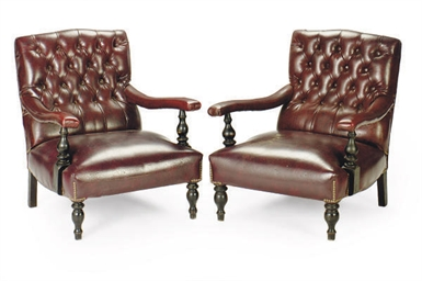A PAIR OF EDWARDIAN EBONIZED A