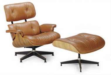 A WALNUT AND BROWN LEATHER '67