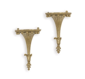 A PAIR OF ENGLISH GILTWOOD WAL