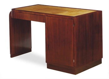 A FRENCH MAHOGANY DESK,