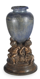 A FRENCH GILT AND CAST-IRON JA