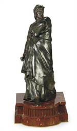 A PATINATED BRONZE FIGURE OF D