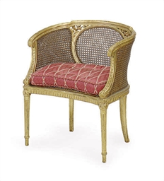 A CONTINENTAL GILTWOOD AND CAN
