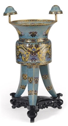 A LARGE CHINESE CLOISONNE-ENAM