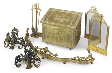 A GROUP OF FRENCH ORMOLU FIREP