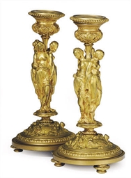 A PAIR OF FRENCH ORMOLU FIGURA