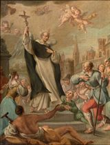Saint Ignatius of Loyola healing the possessed