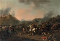 A cavalry skirmish, traditionally said to depict the Battle of Las Navas de Tolosa