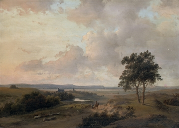 A panoramic summer landscape w
