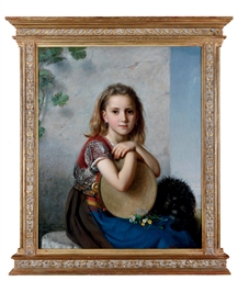 A portrait of a young girl and