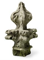 A PORTLAND STONE CROCKET FINIAL