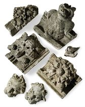 A COLLECTION OF EIGHTEEN PLASTER CASTS OF ARCHITECTURAL ELEM