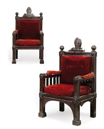 A PAIR OF GEORGE IV MAHOGANY C