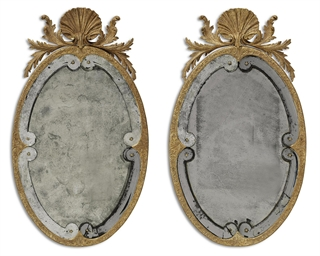 A PAIR OF QUEEN ANNE STYLE GIL