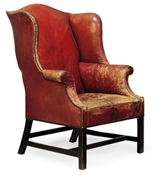A GEORGE III MAHOGANY AND RED